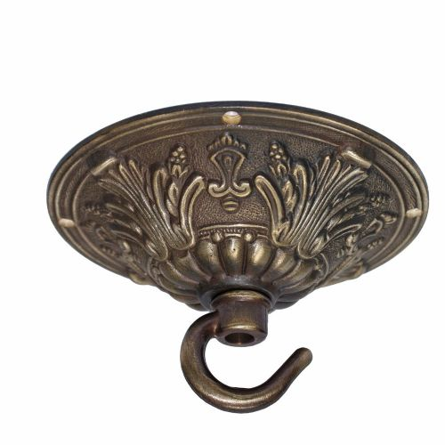 99mm Brushed Antique Finish Hooked Ceiling Rose Plate for Chandeliers